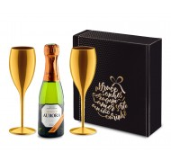 Kit Aurora Prosecco 187ml com 2 Taças